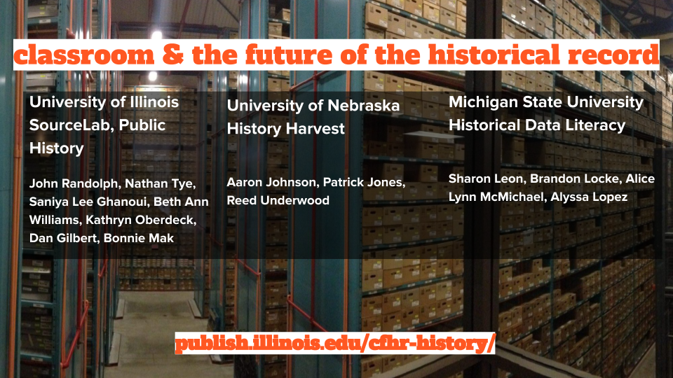 list of participants in Classroom and the Future of the Historical Record